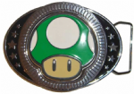 Nintendo Spinning Mushroom Belt Buckle with display stand - Officially Licensed